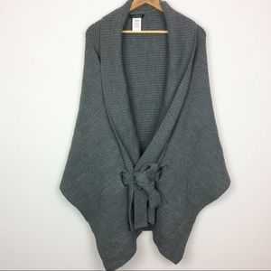 NWT Ralph Lauren Belted Ribbed Sweater Poncho